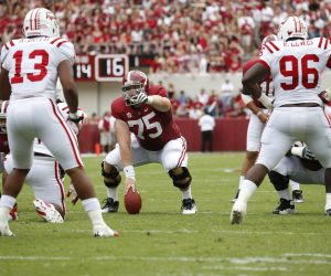 Barrett Jones vs Western Kentucky - Photo by Kent Gidley