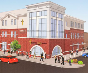 Rendering of Women's and Children's Center (mlive.com)
